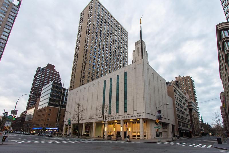 Manhattan New York Temple Entrance (Morning)