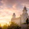Manti Temple Sunset