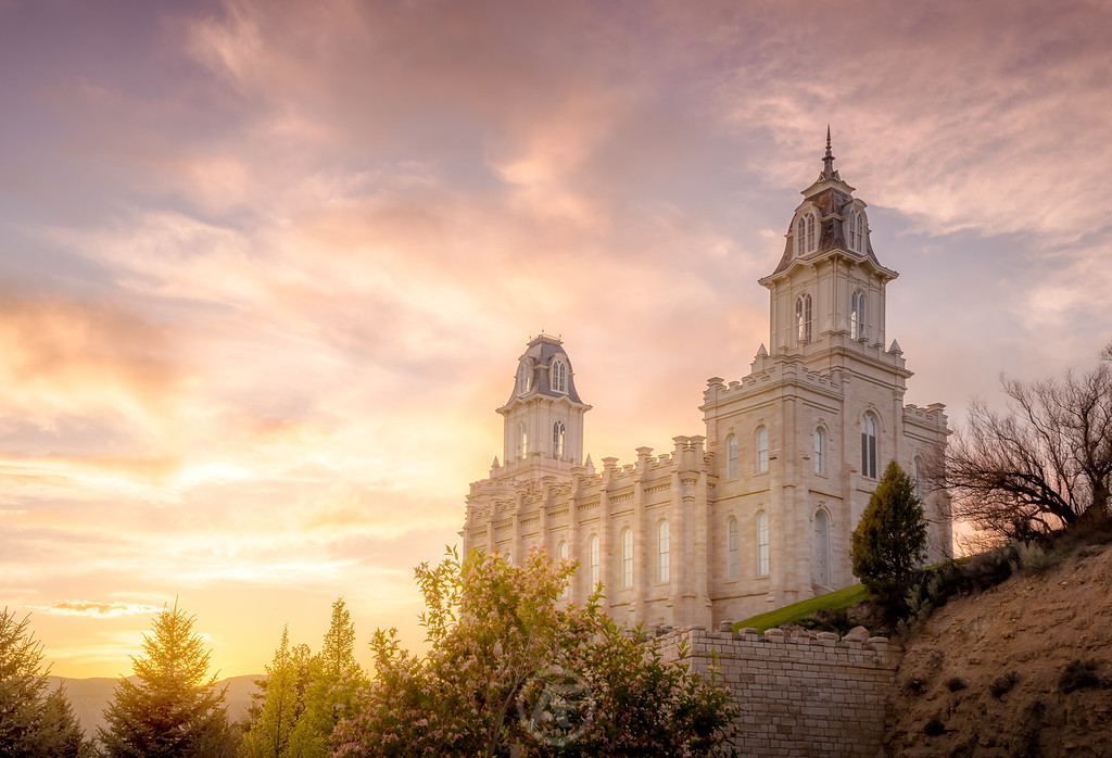 Manti Temple Sunset