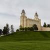 Manti Utah Temple Lawn