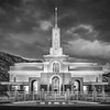 Mount Timpanogos Temple (Black and White)