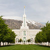 Mount Timpanogos Utah Temple Lawn Entrance