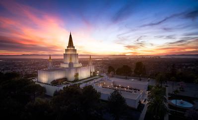 Oakland Aerial Sunset