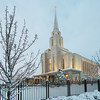 Oquirrh Mountain Utah Temple Snow Covered Grounds