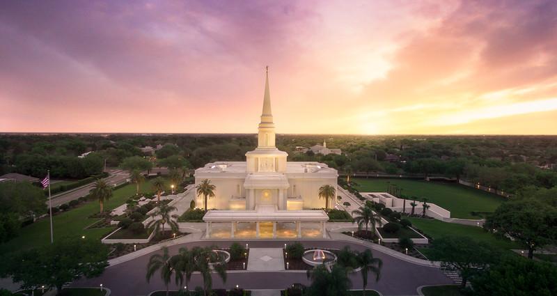 Orlando Sunset Aerial
