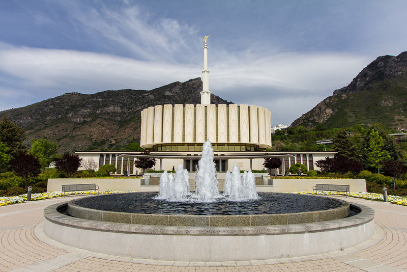 Provo Utah Temple Fountain
