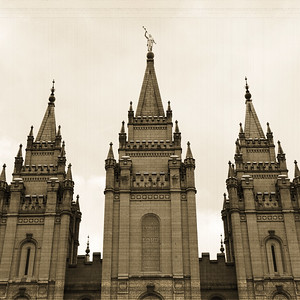 Salt Lake Temple Front Close