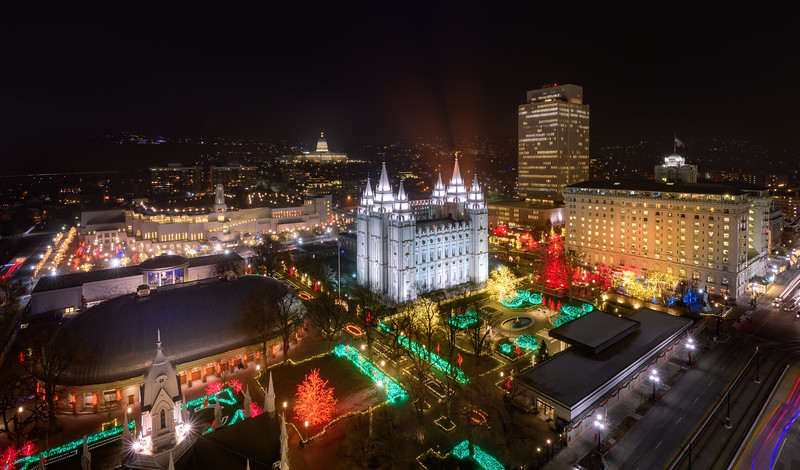 Christmas at Temple Square From On High