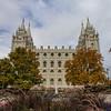Salt Lake Temple Autumn Trees (South Side)