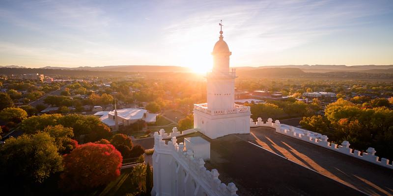 St. George Sunrise Burst Aerial