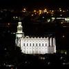 St George Utah Temple Profile (Night)