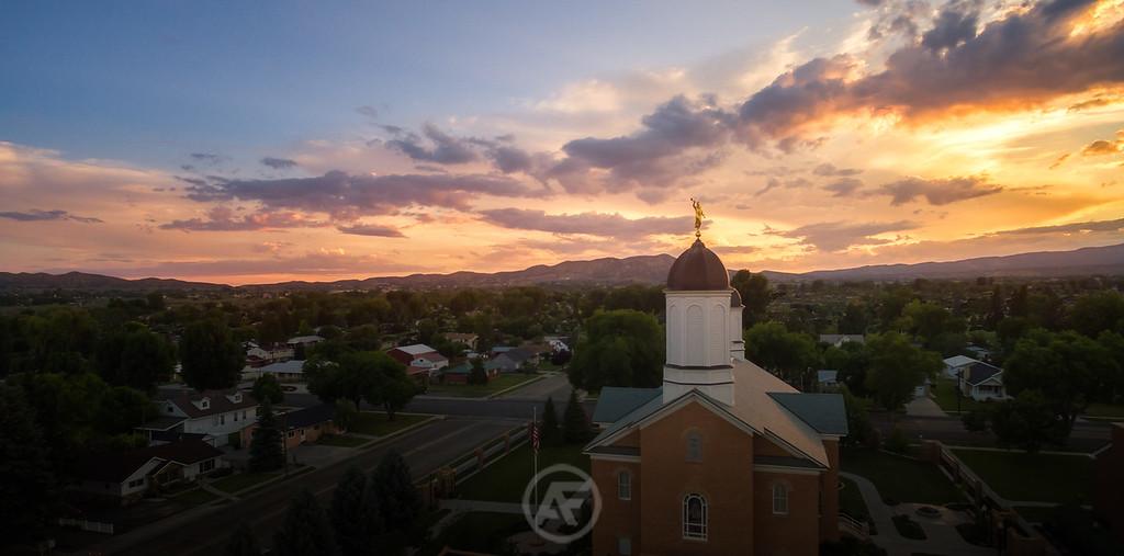 Vernal Sunset Aerial