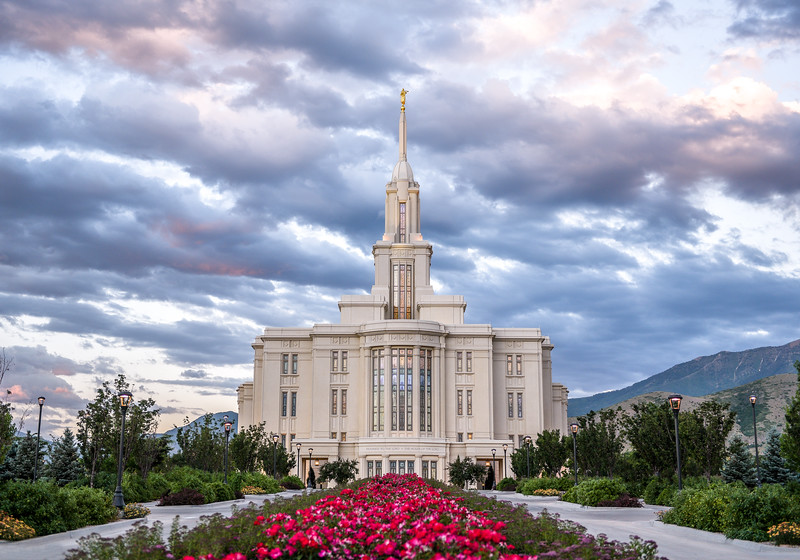 Payson Utah Temple at Dusk