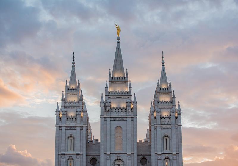 Salt Lake Temple at Sunset