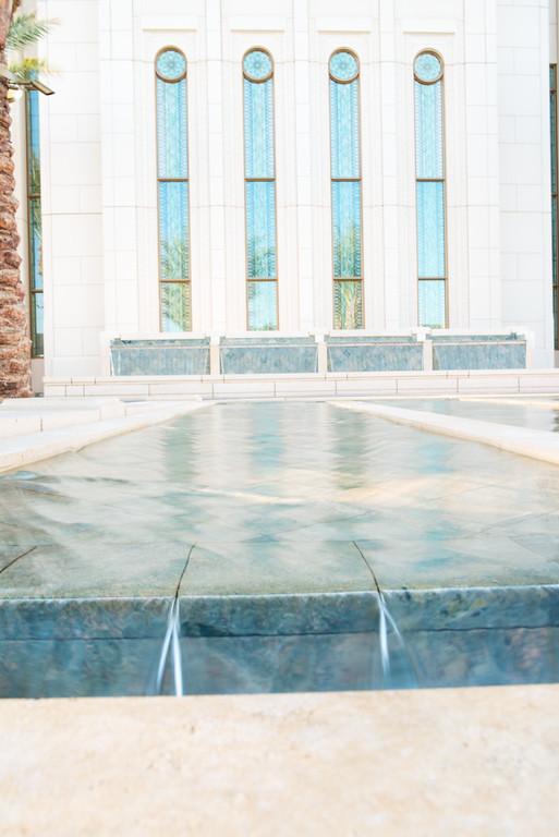 Gilbert AZ LDS Temple Fountain