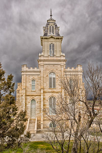 Manti Temple  under the Storm