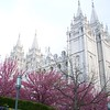 Exterior of the Salt Lake Temple.