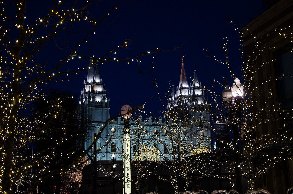 Salt Lake City Temple and city creek
