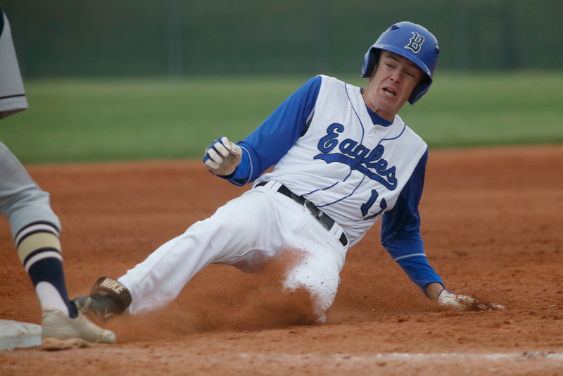 Matt Turner , Broomfield first baseman, slides safely into third base during their game against Legacy on Saturday, May 7, 2016 in Broomfield. (Photo by Trevor Davis)