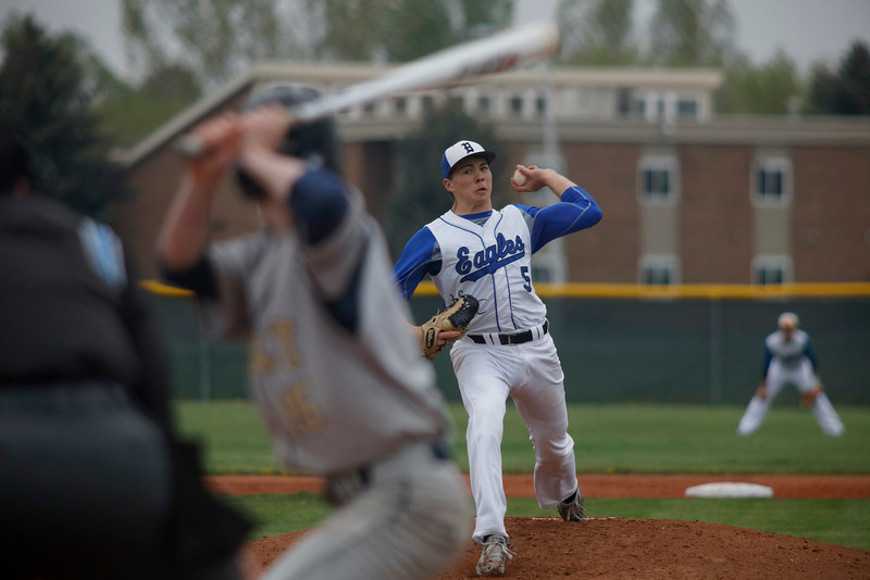 Walter Pennington, Broomfield pitcher, aims for a strike while pitching against Ryan Overboe, Legacy pitcher, on Saturday, May 7, 2016 in Broomfield . (Photo by Trevor Davis)
