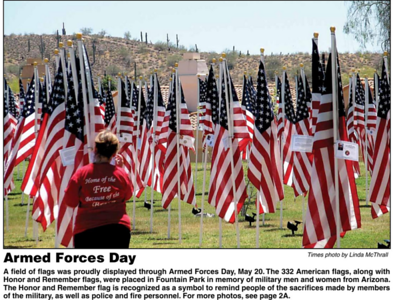 MAY - Honor and Remember - Field of Flags