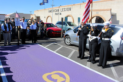 Jan. - Post 36 Dedication of Purple Heart designated parking