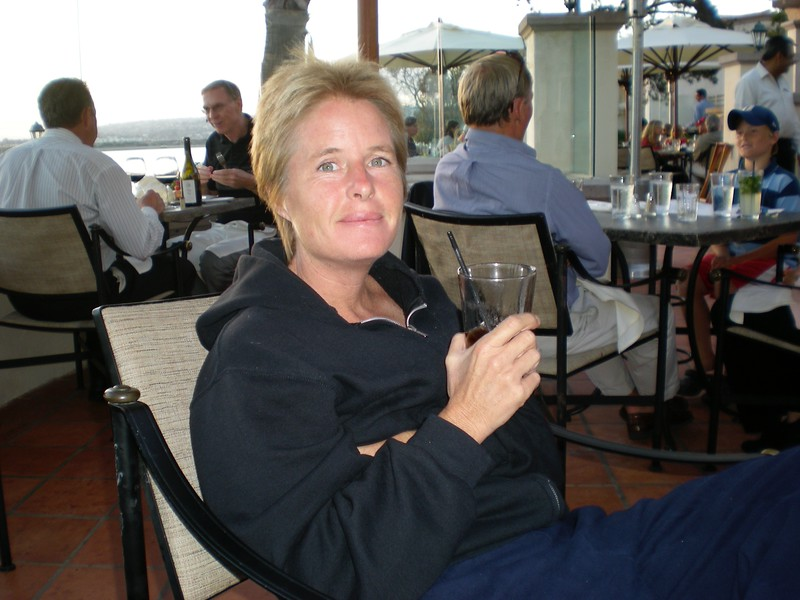 Dinner on balcony at the Hilton Hotel, Mission Bay, Summer of 2007