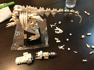 2020-01-20 Deb's LEGO T-Rex build