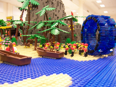 Then they make a trip to pirate island
