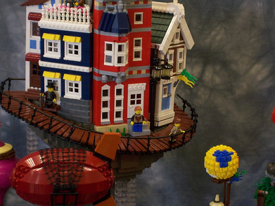 My SigFig changed into Castle atire and went to visit Kevin's award winning SteamPunk floating village.
