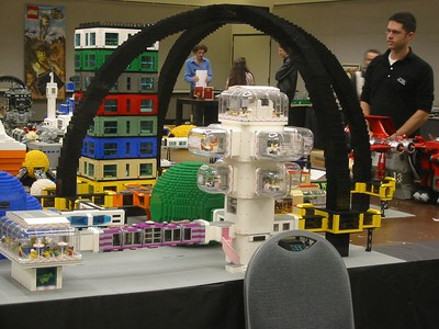 The Quarch, or Quad-Arch, was displayed only once at NWBrickCon 2005.  It won the award for Best Macro (Super) Moonbase.
