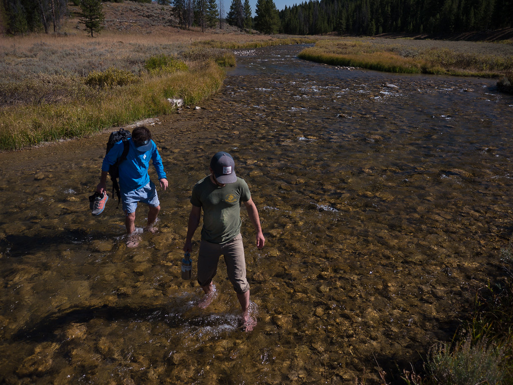 Rusty Rustigian and Nick Marucci collecting samples in Yellowstone National Park