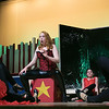 "Leominster High School Theatre Company presents ""Pippin"" on Friday night, Nov. 22, 2019 at 7 p.m. and Saturday, Nov. 23, 2019 at 7 p.m. They held a dress rehearsal on Tuesday at the school. Marilyn Wilson, playing The Leading Player, sings during a scene at the dress rehearsal while other actor dance around her. SENTINEL & ENTERPRISE/JOHN LOVE"