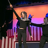 "Leominster High School Theatre Company presents ""Pippin"" on Friday night, Nov. 22, 2019 at 7 p.m. and Saturday, Nov. 23, 2019 at 7 p.m. They held a dress rehearsal on Tuesday at the school. Elizabeth Mahoney, playing a soldier, in a scene during the dress rehearsal. SENTINEL & ENTERPRISE/JOHN LOVE"