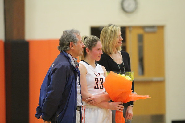 2.6.17 Girls Varsity Basketball Senior Night