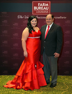 Queens Contest contestant Brooke Agnes Patin of St. Martin Parish with St. Martin Farm Bureau Parish President Mike Melancon.