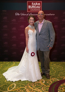 Queens Contest contestant Georgia Dugas of Calcasieu Parish with Calcasieu Farm Bureau Parish President Willie Danos.