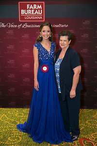Queens Contest contestant Jenna Rose Oubre of Lafayette Parish with Lafayette Farm Bureau Parish President Linda Duhon.