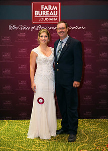 Queens Contest contestant Tara Lizabeth Fontenot of Evangeline Parish with Evangeline Farm Bureau Parish President Scott Fontenot.