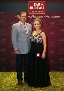 Queens Contest contestant Sara Ellen Flynn of Avoyelles Parish with Avoyelles Farm Bureau Parish President Phillip Lamartiniere.