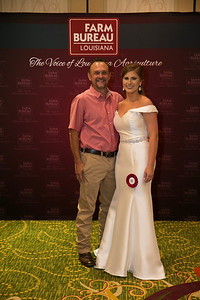 Queens Contest contestant Sloane Judice of Iberia Parish with Iberia Farm Bureau Parish President Ricky Gonsoulin.