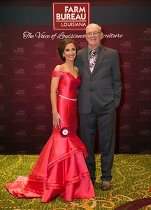 Queens Contest contestant Heidi Elizabeth Rhodus of Livingston Parish with Livingston Farm Bureau Parish President Charles Kemp.