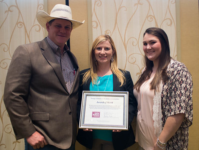 Parish Award of Merit recipients Robert and Rachel Duncan of Rapides Parish with YF&R Chair Amelia Kent