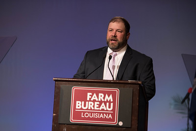 Louisiana Farm Bureau District VII State Board Member Ryan Doré calls the  Junior and Senior Talent Contest to order.