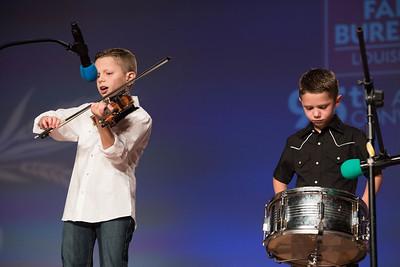 """Junior Talent Contest contestant Ivan Aucoin and Ashton Aucoin of Calcasieu Parish performed """"Tes Parents ne Veulent Plus Me Voir""""."""