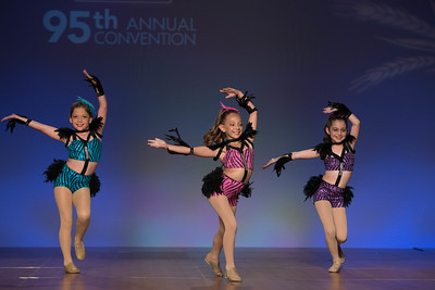 """Junior Talent Contest contestants Lola Stoffer, Marlee Harper and Mallory Whitney of West Carroll Parish danced to """"Shake a Tail Feather."""""""