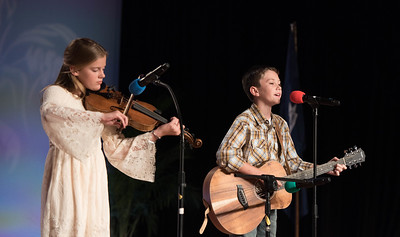 "Junior Talent Contest contestants Mary Harris and Will Louviere of St. Martin Parish performed  ""San Antonio Rose""."