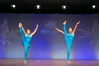 """Junior Talent Contest contestants Madison Claire Manuel and Eva Meyer of Acadia Parish performed to """"Workin' Day & Night"""" by Michael Jackson."""