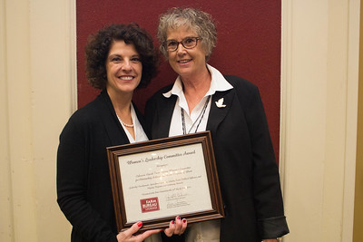 Calcasieu Parish Farm Bureau was recognized for outstanding achievement in the Women's Leadership Committee program by Louisiana Farm Bureau Women's Leadership Committee State Chair Denise Cannatella. Accepting the certificate is Calcasieu Parish Farm Bureau Women's Leadership Committee Chair Becky Hensgens.