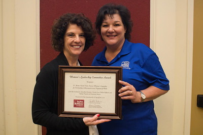 St. Martin Parish Farm Bureau was recognized for outstanding achievement in the Women's Leadership Committee program by Louisiana Farm Bureau Women's Leadership Committee State Chair Denise Cannatella. Accepting the certificate is St. Martin Parish Farm Bureau Women's Leadership Committee Chair Kizzy Theriot.